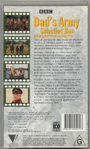 DAD'S ARMY Selection Box - BBC VHS Video, All Time ...