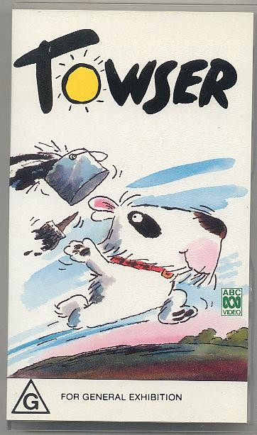 TOWSER-ABC-Animated-VHS-Video-Tony-Rose-Roy-Kinnear-12-Episodes-1984