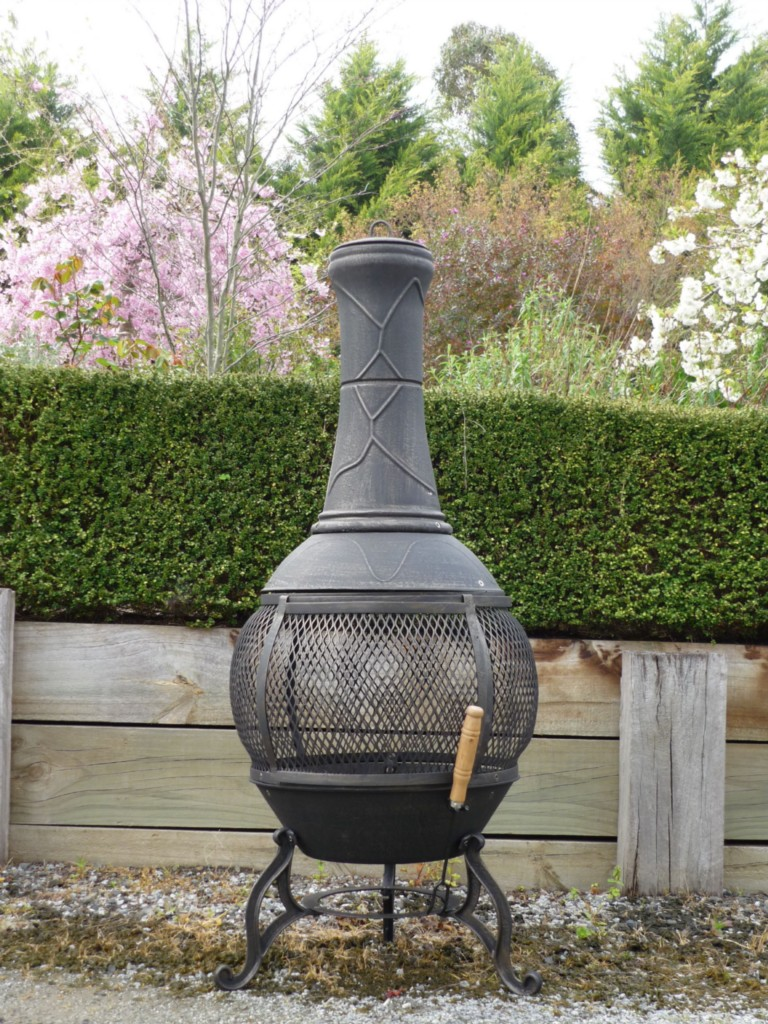Cast Iron Chiminea Pot Belly Wood Heater Fire Bbq Camping 92b Ebay