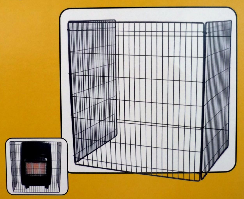 GAS Fire Heater Safety Screen Child Guard 62cm X 52cm B