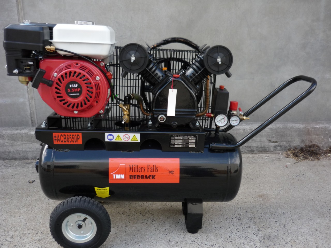 AIR-COMPRESSOR-5-5hp-Petrol-Engine-4-stroke-Brand-New-12-Months-Warranty