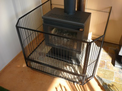 Steel Child Safety Guard Fire Screen With Gate B New 110cm X 110cm Ebay