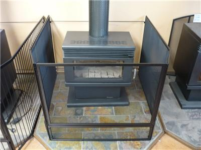 Steel Child Safety Guard Mesh Fire Screen With Gate B New 110cm X 110cm Ebay