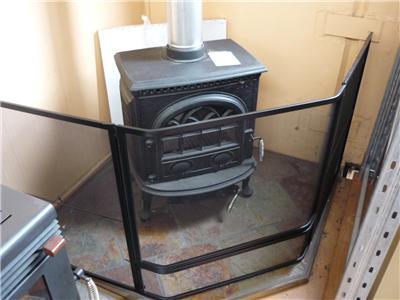 Corner Steel Child Safety Guard Fire Screen Mesh W Gate 75cm Front 75cm Sides Ebay