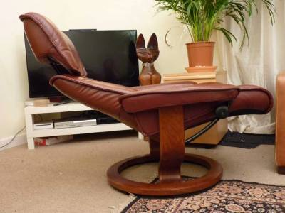 EKORNES STRESSLESS SCANDINAVIAN RECLINER ... & EKORNES STRESSLESS REDDISH BROWN LEATHER RECLINER CHAIR (LARGE ... islam-shia.org