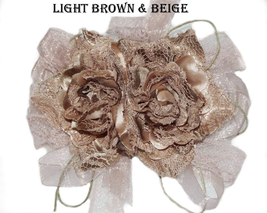 Lace-Hair-Flowers-Roses-Fascinator-Corsage-Clip-Brooch