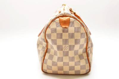 Authentic louis vuitton damier azur speedy 25 n41534 hand for Louis vuitton bin bags