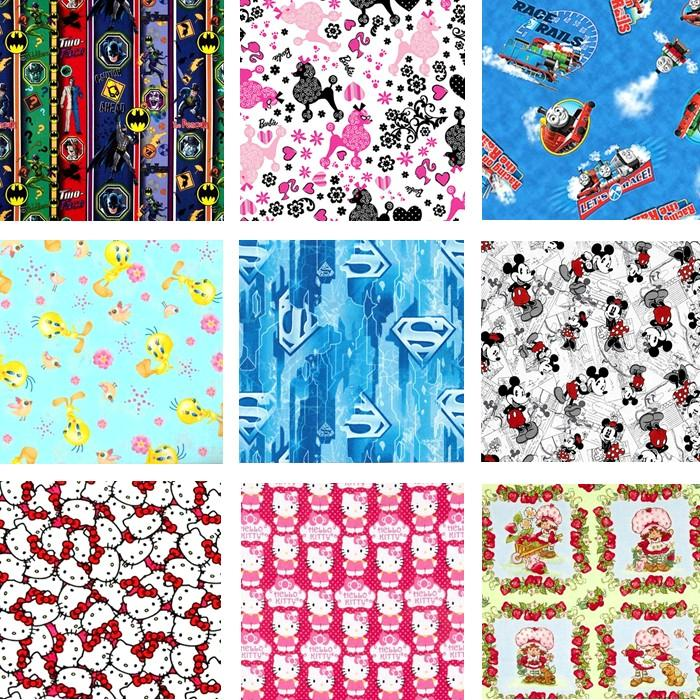 New kids characters novelty cartoon cotton quilting for Kids character fabric