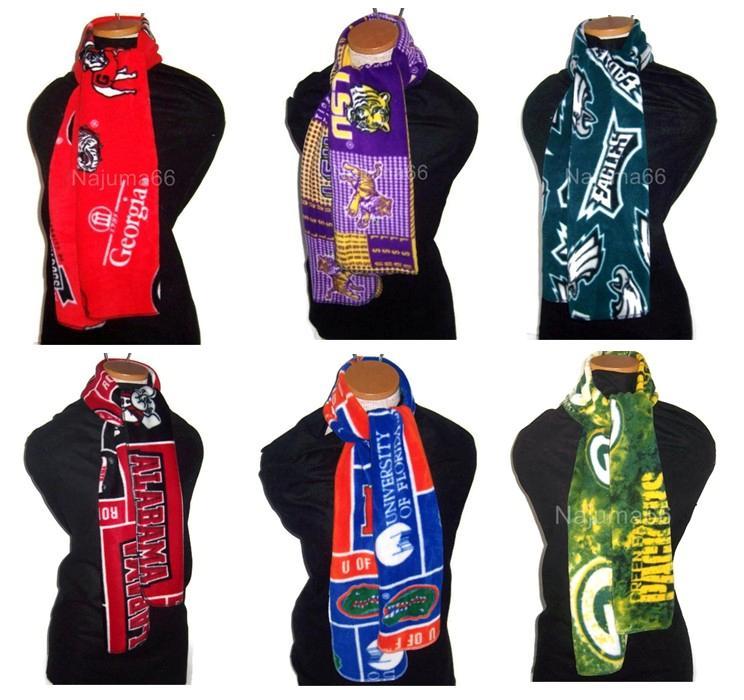 new collegiate ncaa nfl mlb fleece scarf