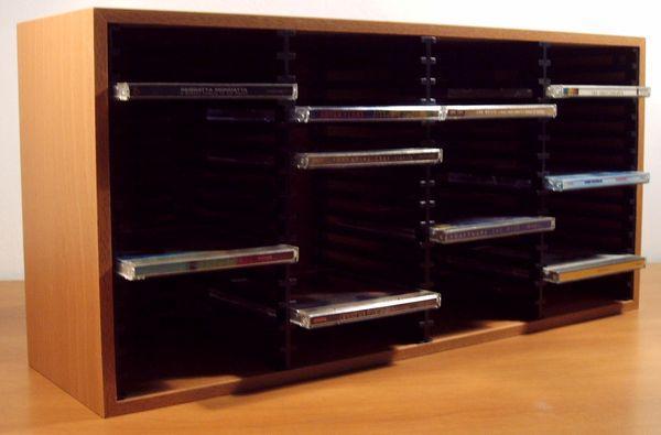 Porta 60 cd legno faggio mobile dj espositore box case ebay - Porta cd in legno ...