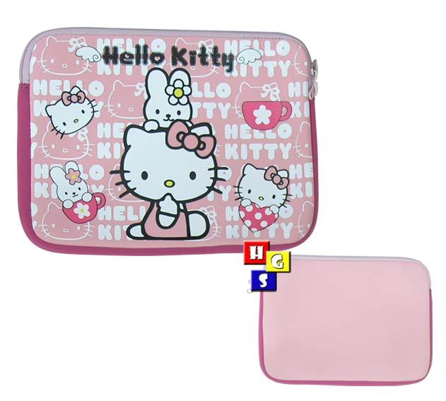 """Hello Kitty Samsung Note Galaxy Tab 10 1"""" Notebook Laptop Sleeve Cover Pink Case"""