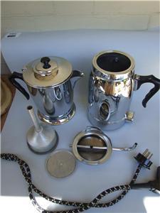 Electric Coffee Maker Jug : Vintage Retro BIRKO Electric Chrome Coffee Maker Percolator / Electric Jug 60 S