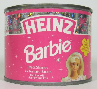 Heinz Barbie Pasta Can from the United Kingdom