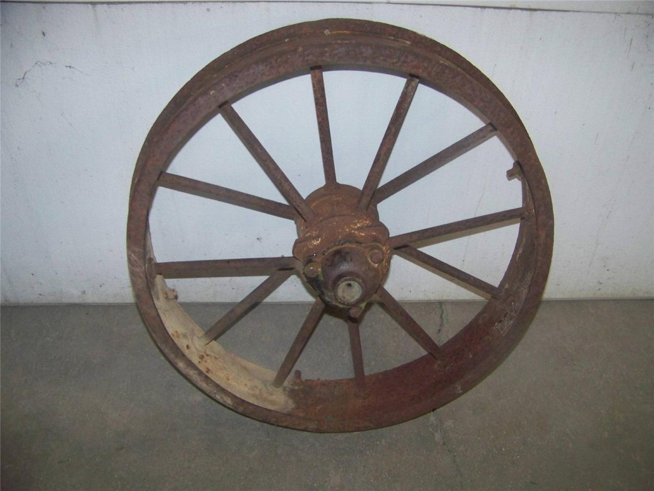 Deere Tractors On Steel Wheels : John deere gp tractor original used take off front steel