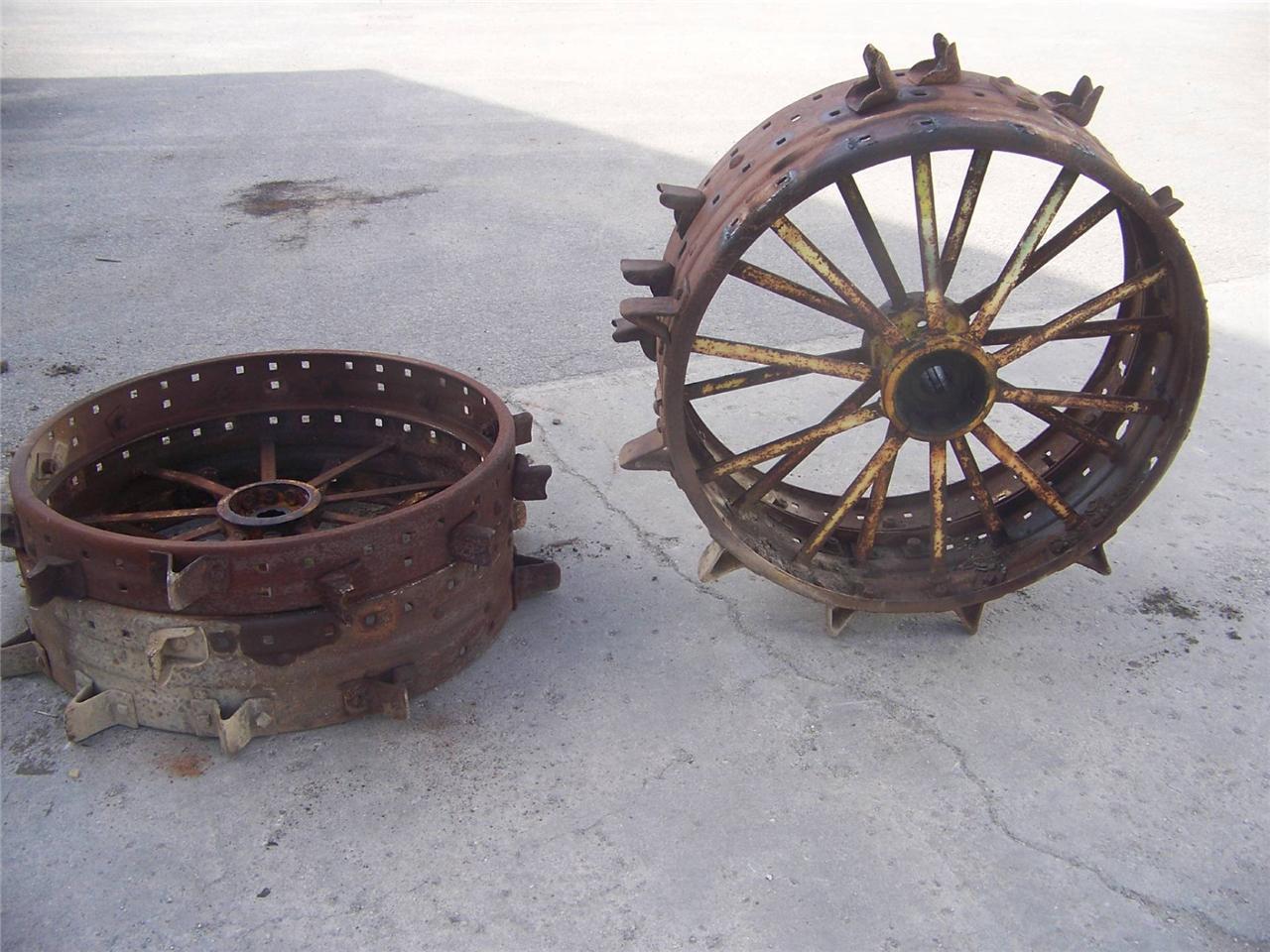 John Deere Tractor Tire Rims : John deere unstyled d tractor used spline rear steel