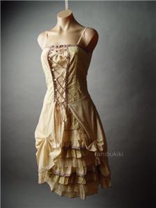 victorian corset petticoat crochet fp eyelet dress l