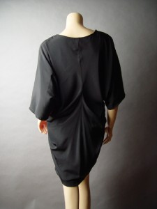 TWO TONE Color Block Avant Garde Urban Black Draping Metro Casual