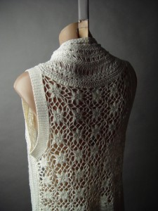 desert wash crochet open front vest | CHALECO CIRCULAR