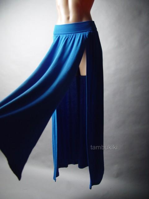 sale blue thigh high split m slit futuristic anime