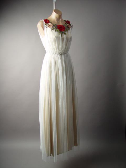 WHITE TULLE Fairy Tale Grecian Goddess Wedding Bridal Gown 224 mv ...