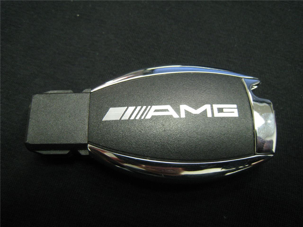 2pcs amg decal sticker mercedes benz car key ebay for Key mercedes benz
