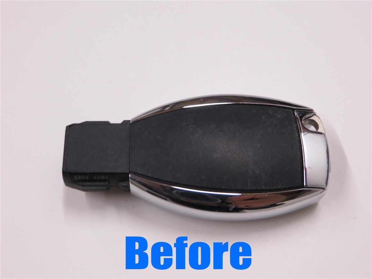 Carbon fiber mercedes benz car key decal sticker 2011 2012 for Mercedes benz car key