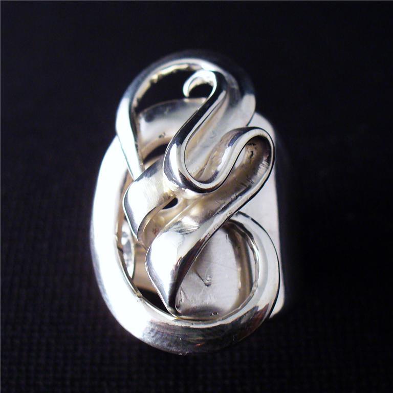 spoon jewelry solid sterling silver fork ring sz 5 15 ebay