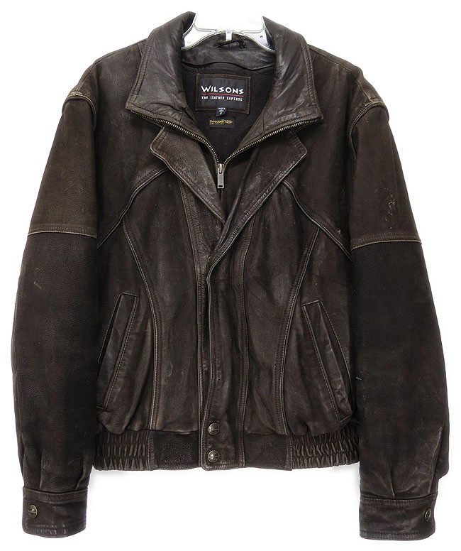 Details about Wilson Womens Sz 40 Brown Leather Jacket ( See