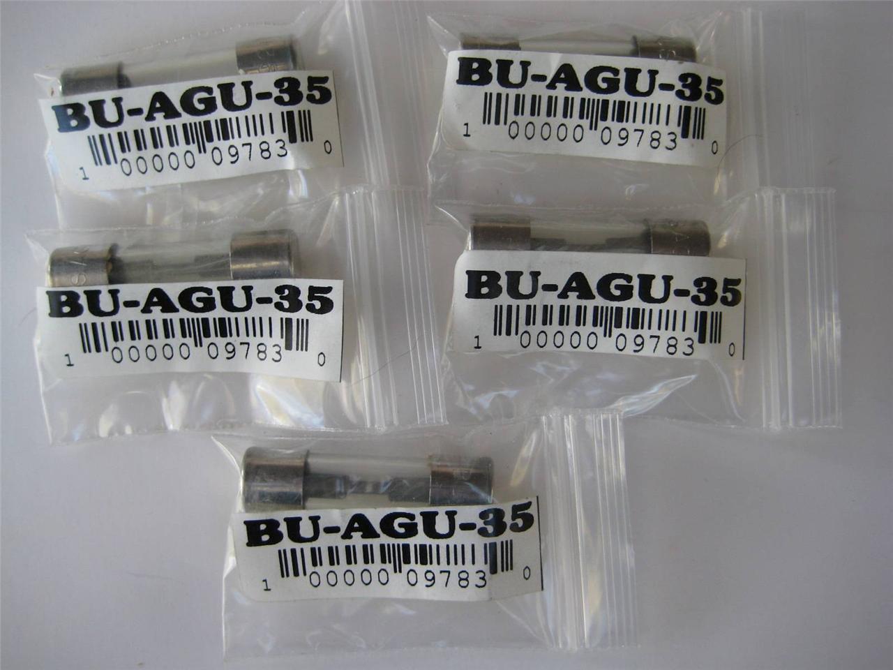731849104_o 1 or 5 pack bussmann fuse agu 4 10 15 25 30 35 or 60 amp 32v 13 32