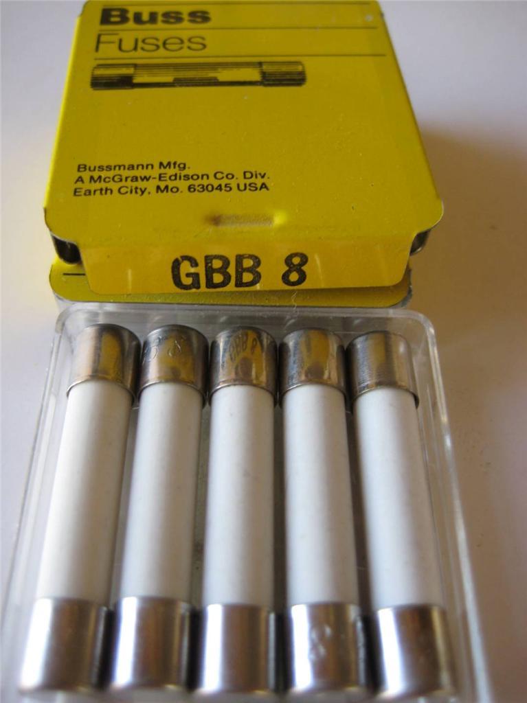 5x Bussmann Fuse Fast Ceramic Fuse Gbb 2 4 5 6 7 8 Or 10a