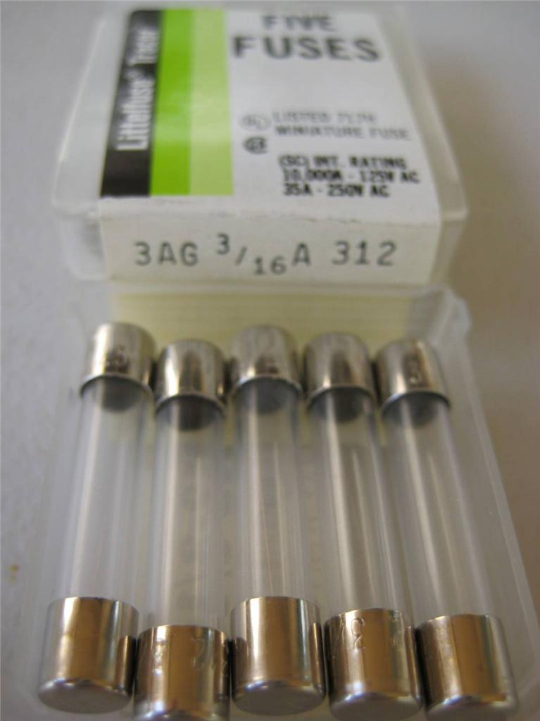 4x 5x Littelfuse Fuse 312 1  100 15  100  175 1  16 1  10 1  8 3  16 2  10 Or 3  10 Amp