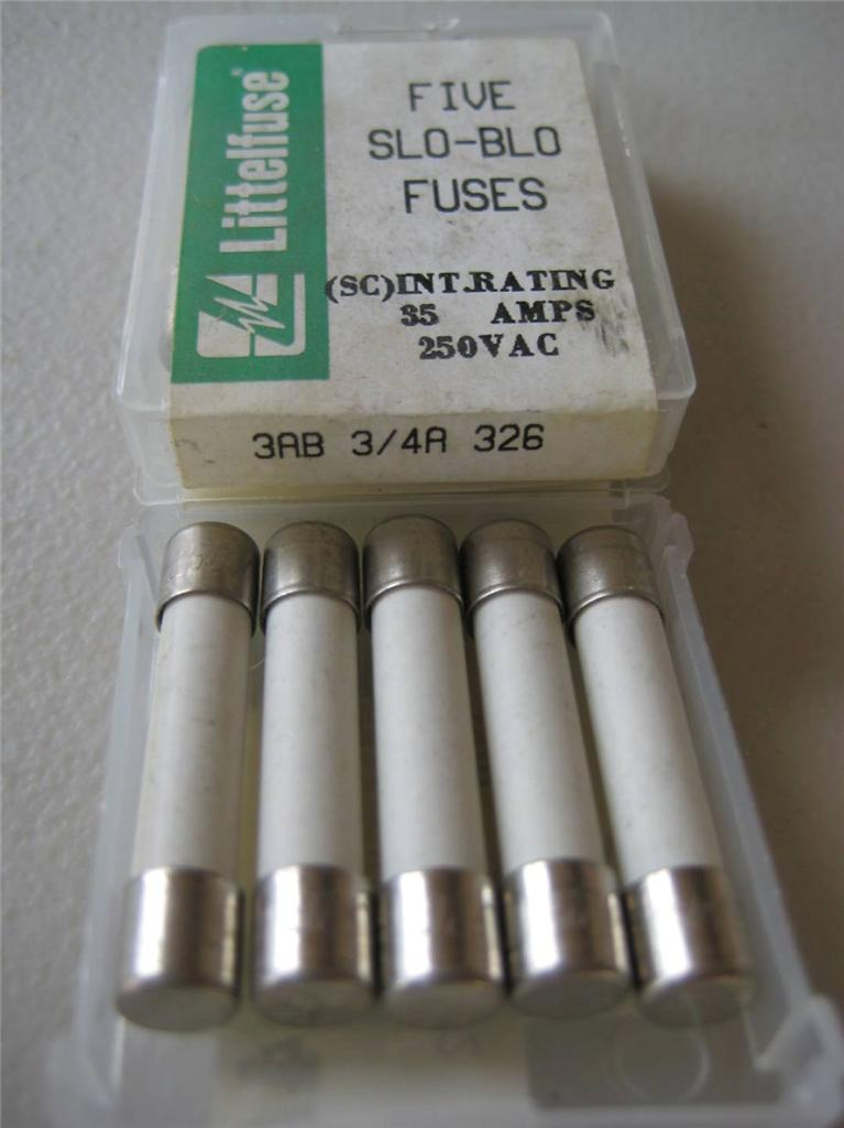 5x Littelfuse Fuse 326 1  4 1  2 6  10 3  4 1 1 2 2 Or 2 2 Amp Nos Slo