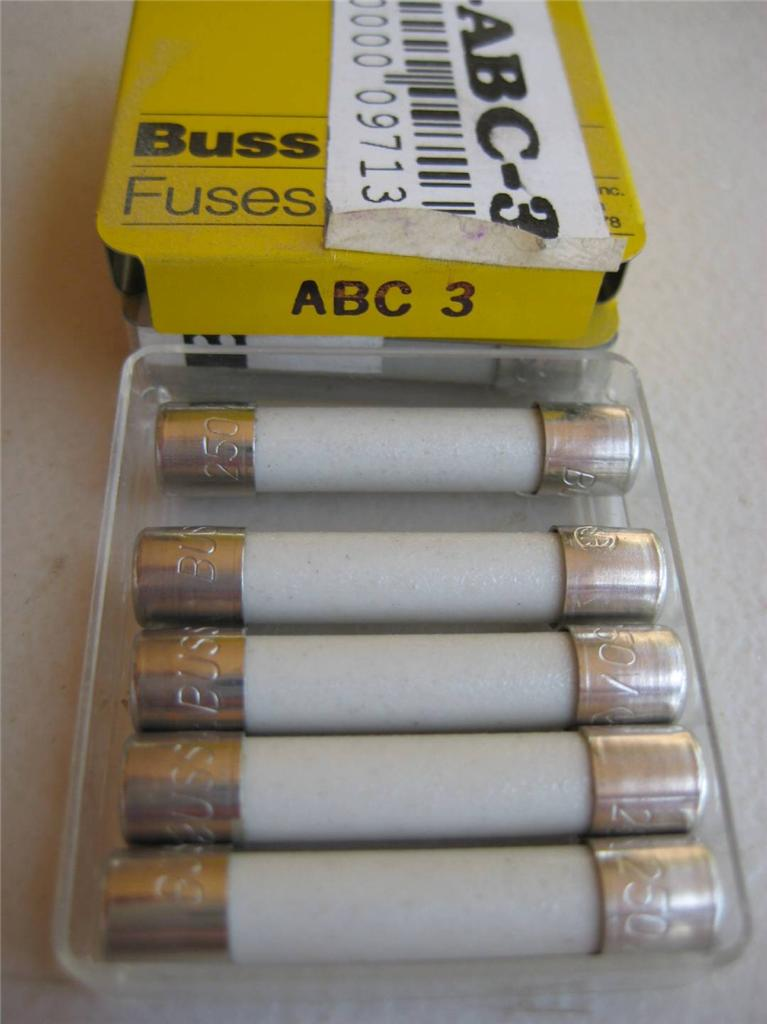 5x Bussmann Fast Acting Fuse Abc 2 1 2 3 4 6 8 10 Or 25 A