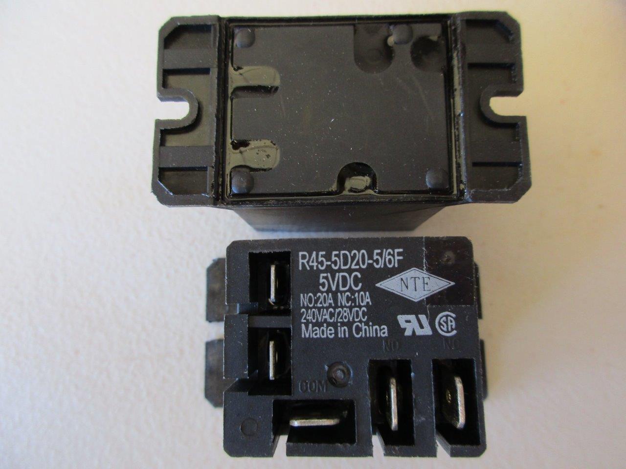 1x Nte Relay R45 5d20 12 Spdt 20 Amp Volt Dc Ebay 24 To