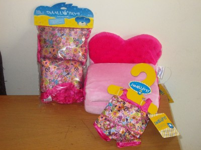 build a bear factory rare htf smallfrys bed chair bedding pjs bnwt ebay. Black Bedroom Furniture Sets. Home Design Ideas