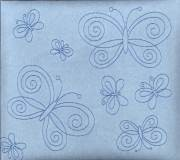 "Blue Suede Butterfly 12/""X12/"" Post Bound Scrapbook Album Crafty Koala"