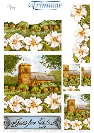 3D-Trinitage-Pop-up-Card-Making-Paper-Lily-Lane-Chapel-NEW