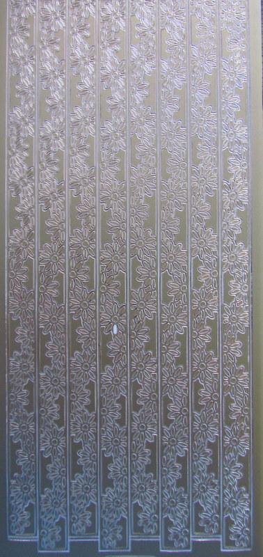 Stickers-Gold-Ribbon-Borders-Daisy-for-Card-Making-Scrapbooking-NEW