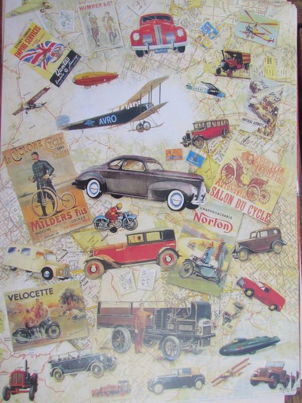 scrapbooking vintage cars
