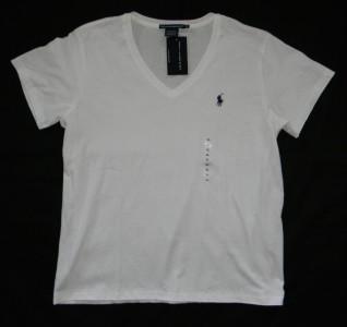Polo Ralph Lauren Sport womans size XL extra large white V neck T