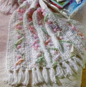 Group of: Rosebud Crochet Afghan Pattern ePattern