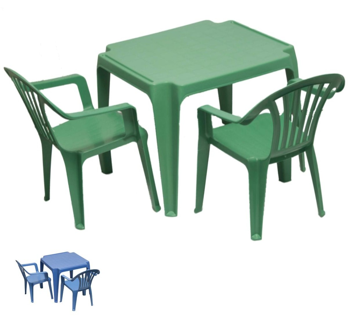 Children 39 S Kids Furniture Plastic Table Two Chair Set Ebay