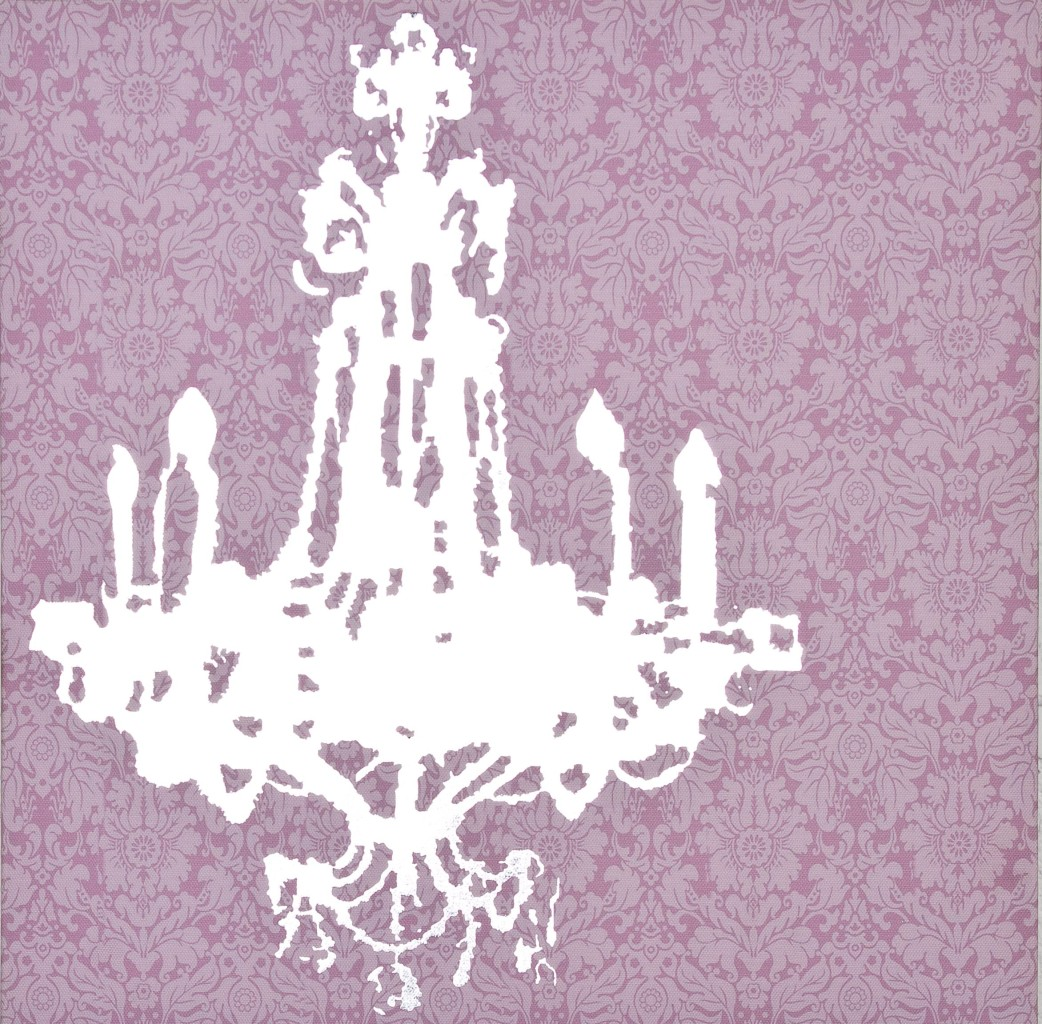 Pink Canvas Wall Modern Art Picture Print Chandelier