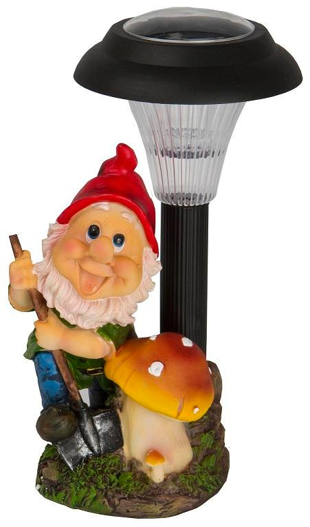 Solar powered outdoor led garden gnome ornament decoration light spotlight lamp ebay for Gnome 3 decoration fenetre