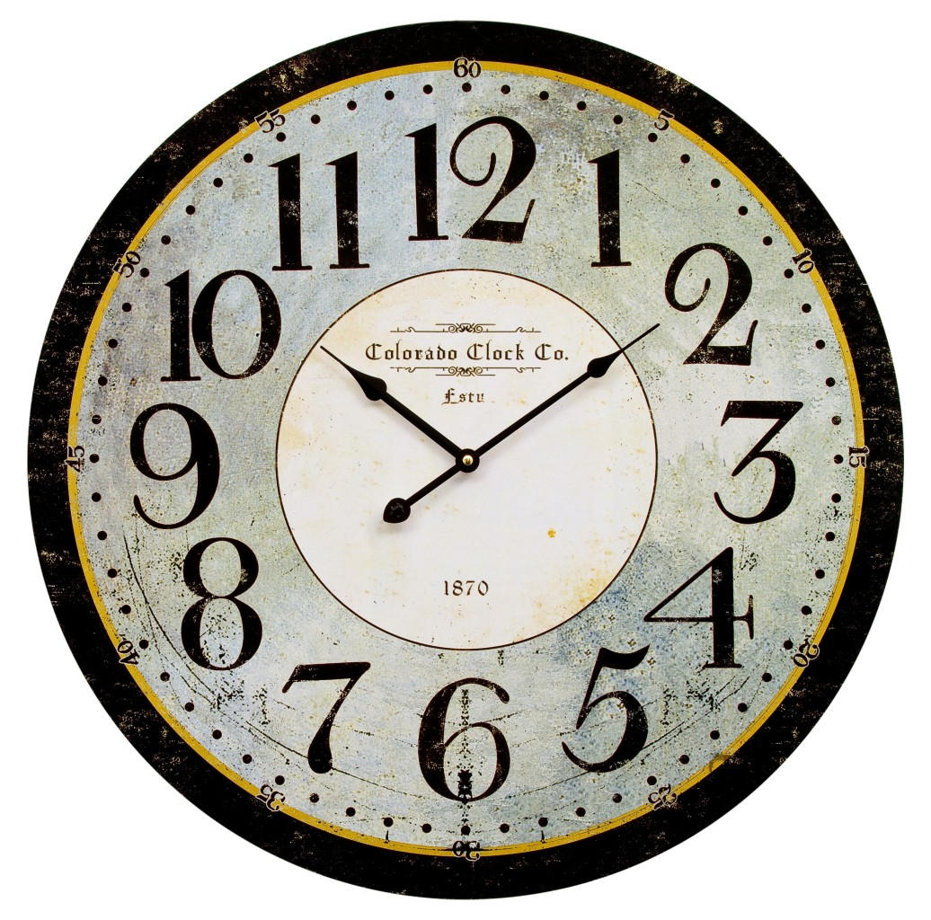 60cm Extra Large Wooden Wall Clock Vintage Retro Antique Shabby Chic Look Style