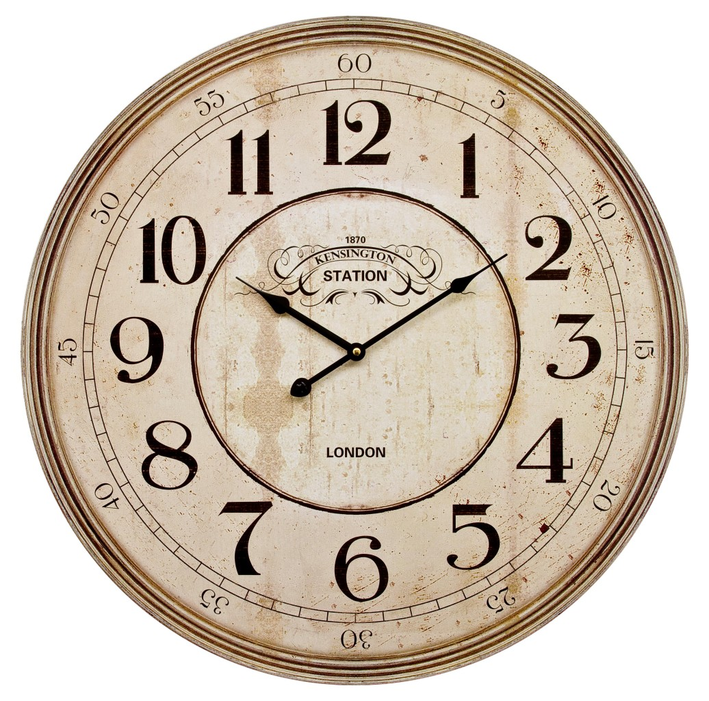 60cm Extra Large Wooden Wall Clock Vintage Retro Antique