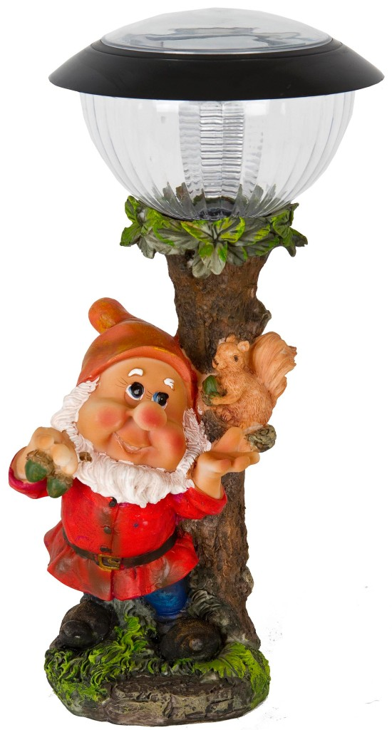 Solar powered led garden gnome elf goblin ornament for Gnome 3 decoration fenetre