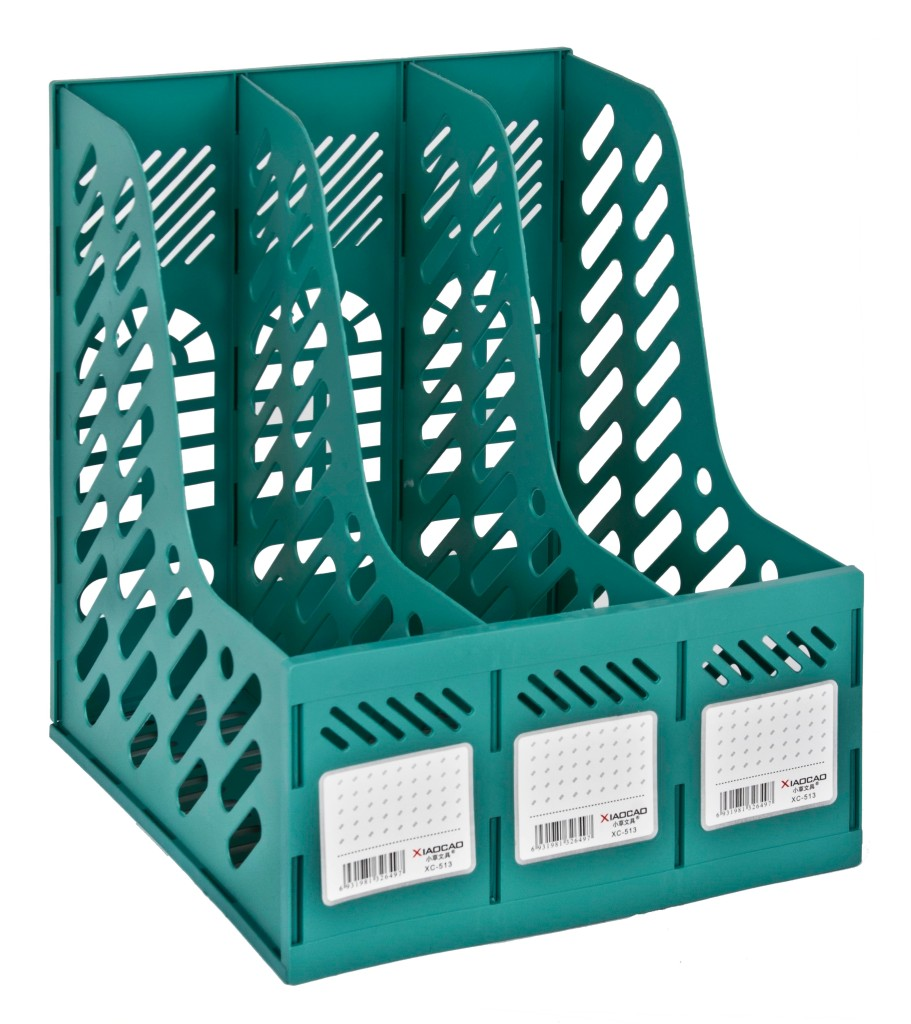 Triple-Magazine-Rack-Paper-Documents-Desk-Top-Office-Storage-Filing-Dividers-Box