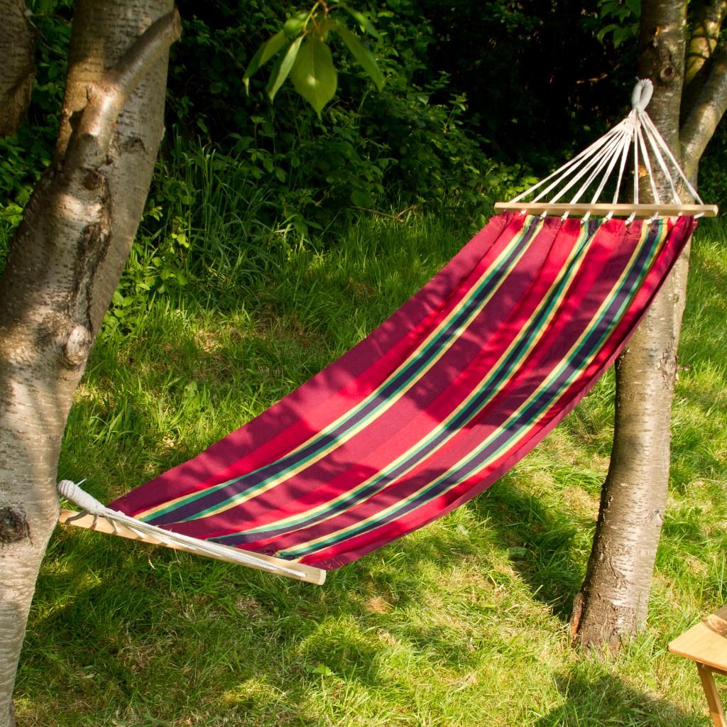 Outdoor Garden Canvas Hammock Swinging Hanging Camping Beach Travel Bed Lounger