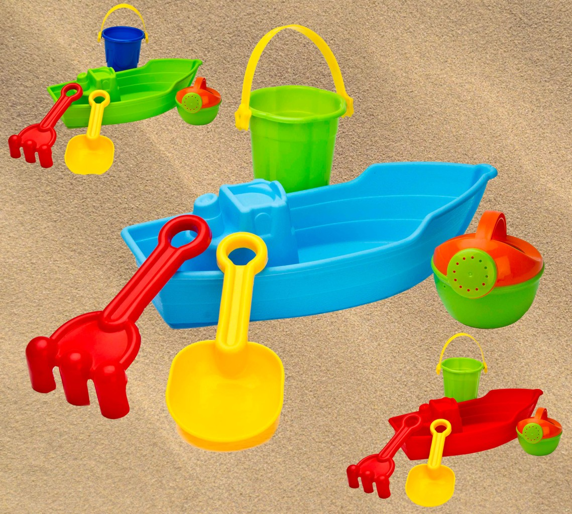 Toys For Water : Piece water boat bucket spade beach seaside sand pit